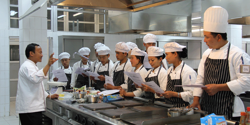 Pastry Practical Session for HM students